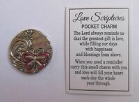 b Let all you do be done in LOVE SCRIPTURES POCKET TOKEN CHARM ganz butterfly