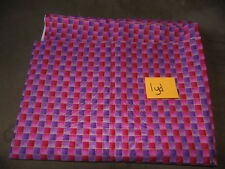 1 YD Quilt Sewing Fabric Pink and Purple Squares Gold Outline Marcus Textiles