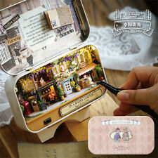DIY Wooden Dolls house Miniature Model Kit /LED Light/ ALL Furnitures Cases