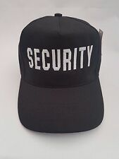Security Embroidered Party Baseball Cap, Hat.