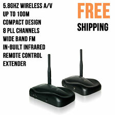 5.8GHz Wireless AV TV Audio Video Signal Sender Transmitter Receiver Remote Ext