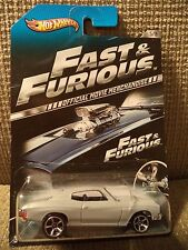 HOT WHEELS FAST & FURIOUS '70 CHEVELLE SS 5/8 OFFICIAL MOVIE MERCHANDISE
