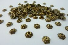 150 Antique Bronze  Metal Etched Flower Bead Caps 8mm Jewellery Making Craft