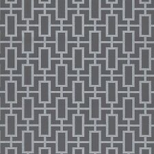 Contemporary Gray Silver Geometric Wallpaper Double Roll Bolts FREE SHIPPING