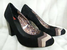 Missoni Target Black Brown Chevron Suede Pumps 9.5