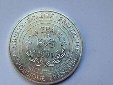 trés belle monnaie 100frs argent Charlemagne Empereur d'occident 1990 TTB/SUP