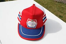 Ball Cap Hat - Molson Canadian - Biere Lager Beer - Red White Blue (H1631)