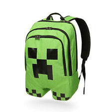 Waterproof Children School Minecraft Backpack Book Storage Creeper Student Bag