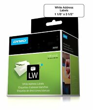 DYMO Label Writer Self-Adhesive Address Labels 1 1/8 x 3 1/2 Inch White 2 Rolls