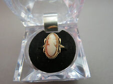 Antique 10K Yellow Gold Cameo Ring Size 8  Marked KGC Designer 2.82 Grams Boxed