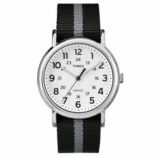 "Timex TW2P72200, Men's ""Weekender"" Black Fabric Strap Watch, Indiglo,TW2P722009J"