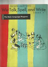 We Talk, Spell and Write Dick and Jane Workbook 1956