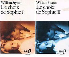WILLIAM STYRON LE CHOIX DE SOPHIE 1 et 2 + POSTER GUIDE
