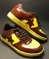 A Bathing Ape Bapesta FS-001 Size 11 Brown Yellow Mens Sneakers Shoes BAPE STA