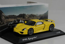 2014 Porsche 918 Spyder closed / open spoiler yellow gelb 1:43 Spark Museum