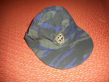GREEK ARMY:GREEK AIR FORCE SOLDIER JOCKEY HAT/CAP-EAGLE-RARE LIZARD BLUE CAMO