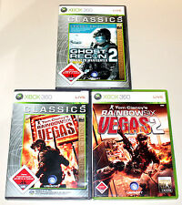 3 XBOX 360 SPIELE SAMMLUNG TOM CLANCY RAINBOX SIX VEGAS 1 2 GHOST RECON SHOOTER