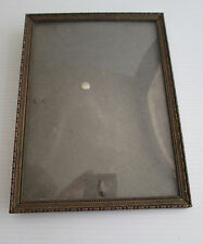 Vintage Metal Edge Glass Front Photo Picture Frame With Back Stand or Hang