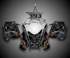2010 - 2015 POLARIS PRO RMK - RUSH Decal Sticker Wrap Graphics Kit Toxic Black