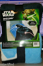 STAR WARS DARTH VADER PLUSH TWIN/FULL BLANKET BED COVER~NEW~MICRO RASCHEL