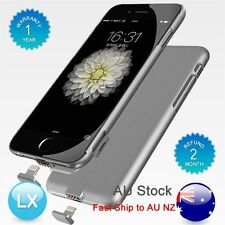 AU Gray External Battery Backup Power Bank Charger Case Cover For iPhone 6 6S