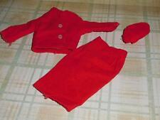 Vintage Barbie Clone Red Corduroy Suit for Barbie Tressy Babs Bild Lilli Mitzi