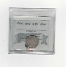 **1910**, Coin Mart Graded Canadian,  10  Cent, **VG-8**