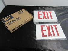EGI EXBTR LED EXIT SIGN RED LETTERS DUAL VOLTAGE 120/277 DOUBLE FACE ***NIB***
