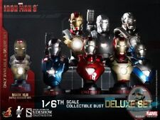 1/6 Iron Man Iron Man 3 Deluxe Set of 8 Collectible Bust Hot Toys