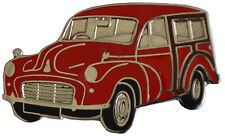 MORRIS MINOR TRAVELLER LAPEL PIN - RED