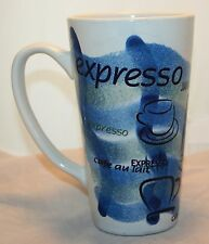Coffee java cafe au lait cappuccino mug cup tall blue