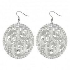 Montana Silversmiths Silver Engraved Filigree French Hook Earrings made in USA