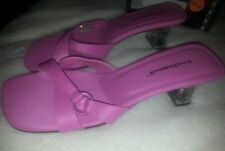 Unlisted Strappy Slides Acrylic Heels Pink Sz 8