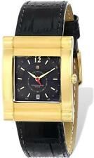 Ladies Charles Hubert IP-plated Stainless Leather Band 29x35mm Watch