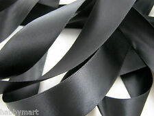 "50mm (2"") Double Sided Satin Polyester Ribbon with Woven Edge - 27 Colours"