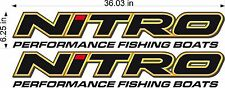 """NITRO Boats 36"""" Logo / PAIR / watercraft / vehicle graphic decals / stickers"""