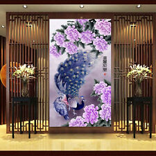 5D DIY Diamond Embroidery Painting Cross Stitch Flower Peony Peacock Home Decor