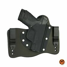 FoxX Leather & Kydex IWB Hybrid Holster Smith & Wesson M&P Shield 9mm & 40 Black