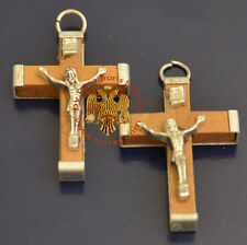 Wooden Cross with Metal Back 3x4cm from Jerusalem