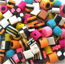 WHOLESALE 1000 MIXED SMALL FIMO POLY BERTIE BASSETTS LIQUORICE ALLSORTS BEADS
