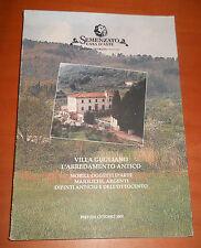 catalogo asta Semenzato -VILLA GUGLIANO: l'arredamento antico