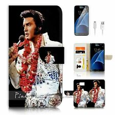 Samsung Galaxy S7 Flip Wallet Case Cover P0133 Elvis Presley
