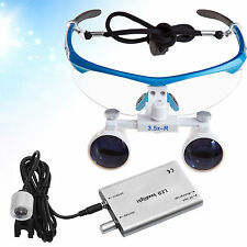 Dental 3.5X Binocular Loupes magnifying Surgical Glasses + LED HeadLight