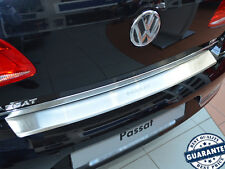 VW PASSAT B7 4D 2010- Rear Bumper Profiled Protector Stainless Steel Scuff Cover