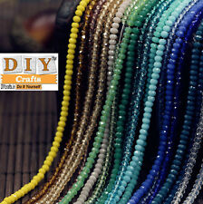 DIY Crafts™ GiftsLots Rondelle Faceted Crystal Glass Loose Spacer Beads Jewelry.