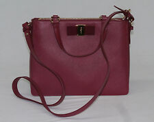 Salvatore Ferragamo Tracy Shoulder Tote Handbag Vin NWT $1450