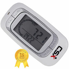 CSX Walking 3D Pedometer Fitness Calorie Monitor, P381, White