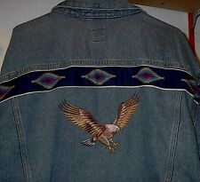 EAGLE EMBROIDERED JEAN JACKET (NATIVE AMERICAN LOOKING)