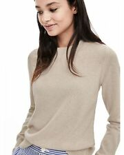 Banana Republic Todd & Duncan Cashmere Crew Pullover,Sz M,Beige,NWT