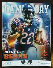 CHICAGO BEARS vs NEW YORK GIANTS GAME PROGRAM 10/10/13 MATT FORTE #22 COVER